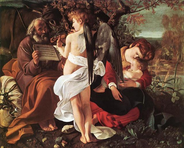 Caravaggio-repouss na fuga para Egito