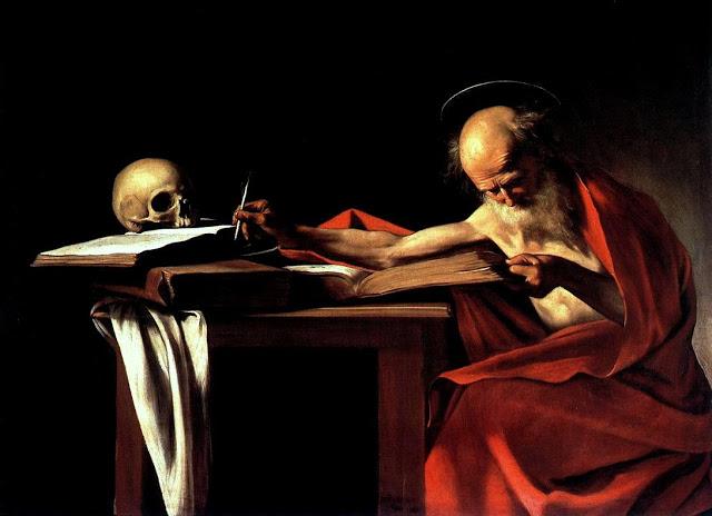 Caravaggio Sao Jeronimo escrevendo