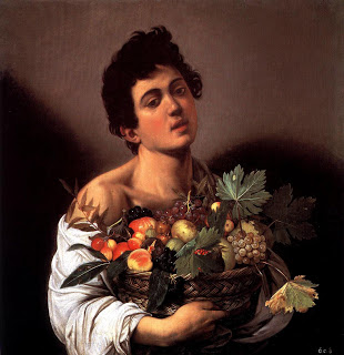 caravaggio rapaz com cesto frutas